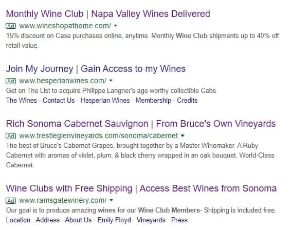 Napa Valley Wine Search
